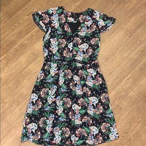 J. Crew short sleeve Island floral dress